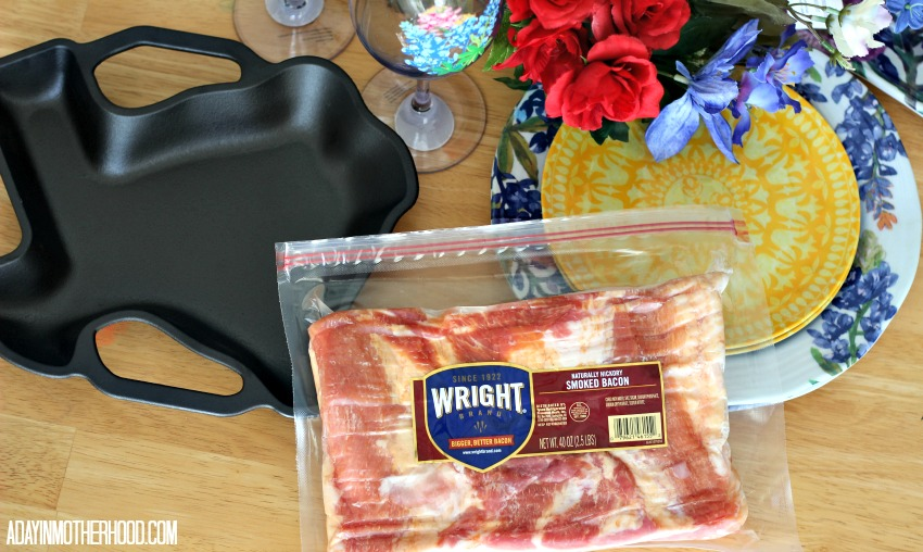 Use bacon to make everything better! Like my Bacon Wrapped Steak & Potatoes + A Texas Tablscape Brings TexFest Home