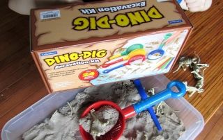 Dino Dig Excavation kit from Lakeshore Learning gets 2 thumbs up!