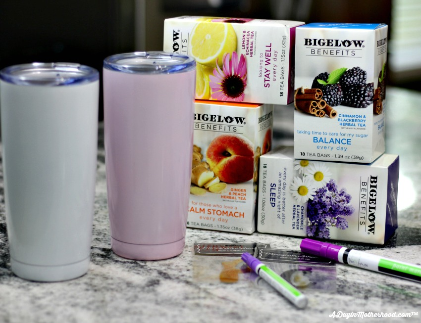 Get all of your supplies for your DIY Personalized Tea Tumbler together