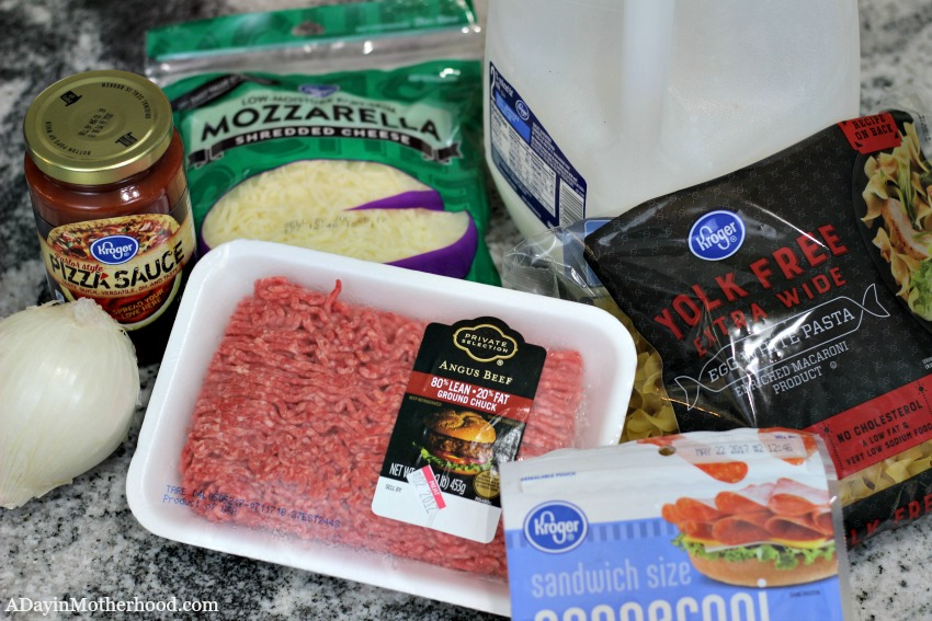 Get the Kroger ingredients for Easy Pepperoni Pasta Bake Recipe