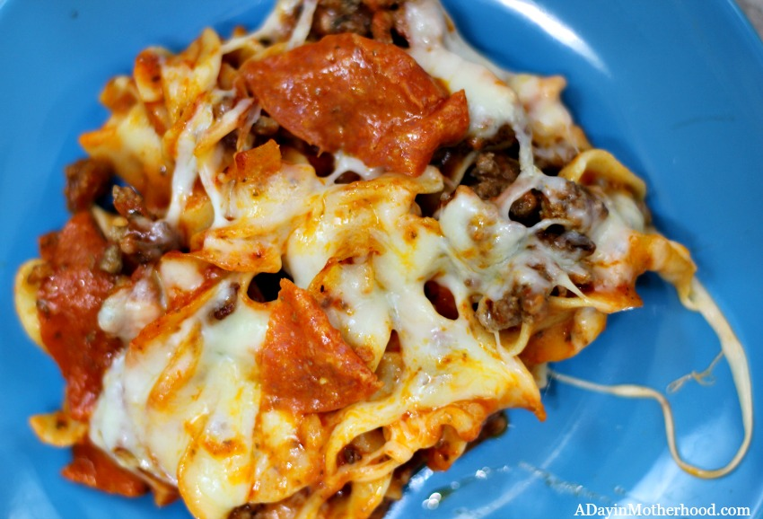 Serve up your Easy Pepperoni Pasta Bake Recipe to your whole family!