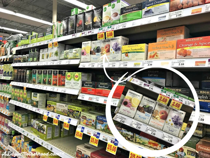 Get Bigelow Teas and your supplies for your DIY Personalized Tea Tumbler at Kroger