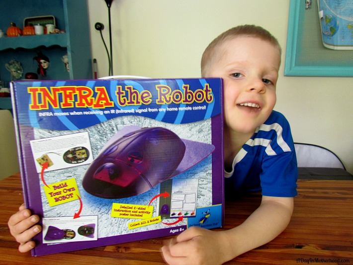 Keep kids engaged this summer with Infra The Robot from The Young Scientists Club. ad