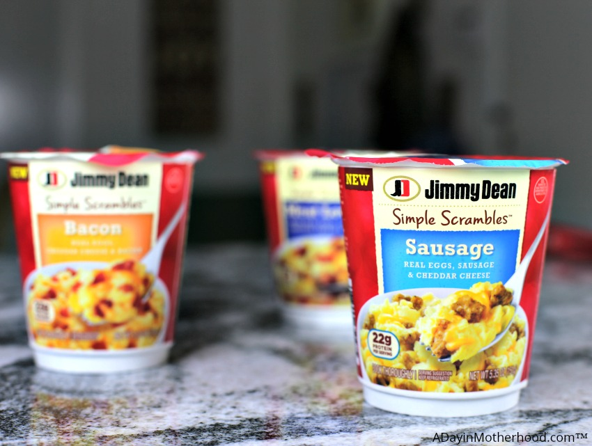 Protein Up Breakfast with Delicious Jimmy Dean Simple Scrambles like the Sausage flavor