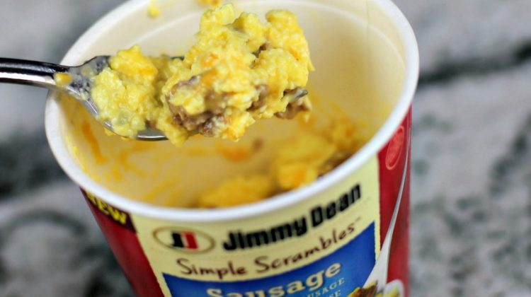Protein Up Breakfast with Delicious Jimmy Dean Simple Scrambles