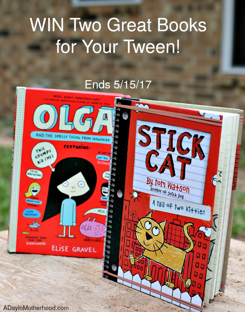 WIN Two Books for Tweens: Olga and the Smelly Thing from Nowhere and Stick Cat: A Tail of Two Kitties! and watch your kids read!