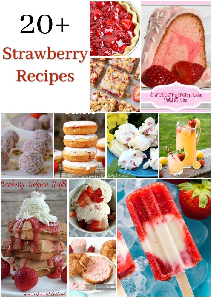 Grab these 21 Strawberry Recipes to enjoy during Strawberry season.