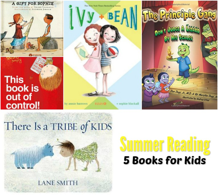 Do some summer reading with these 5 books for kids.