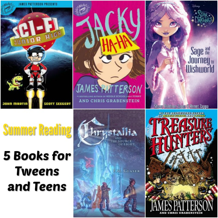 Enjoy these 5 summer reading selections for tweens and teens.