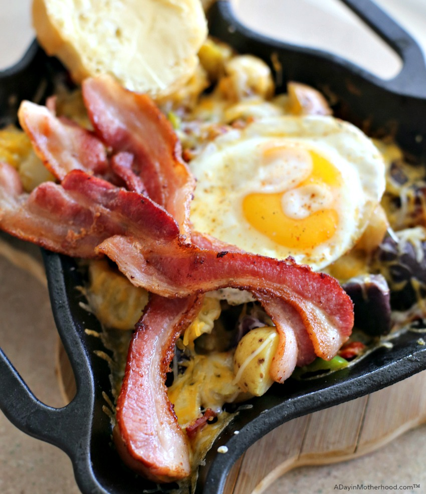 Cast Iron Skillet Bacon and Potatoes Recipe is made right at home