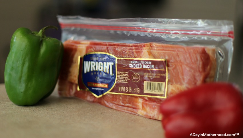 Cast Iron Skillet Bacon and Potatoes Recipe begins with Wright Brand Bacon