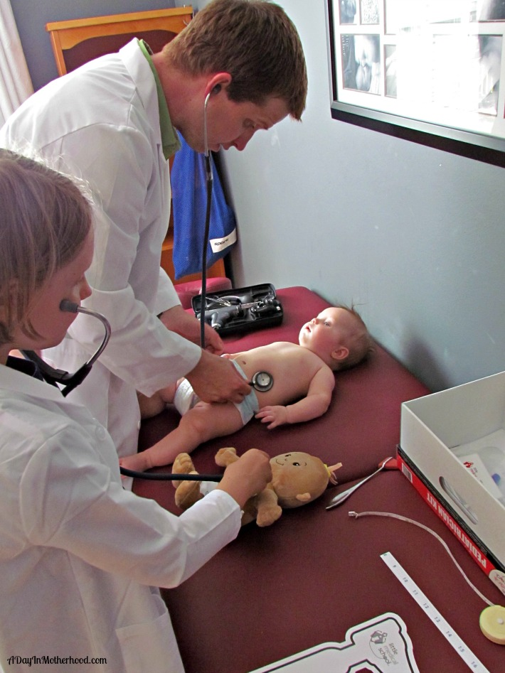 My Little Medical School Pediatrican Kit enables role play for kids. AD