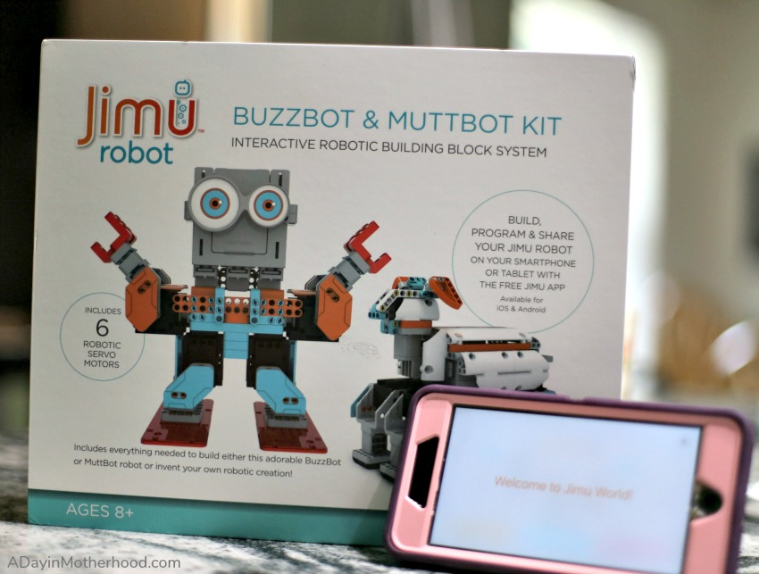 Turn STEM into FUN with a Jimu Robot Buzzbot and Muttbot Kit