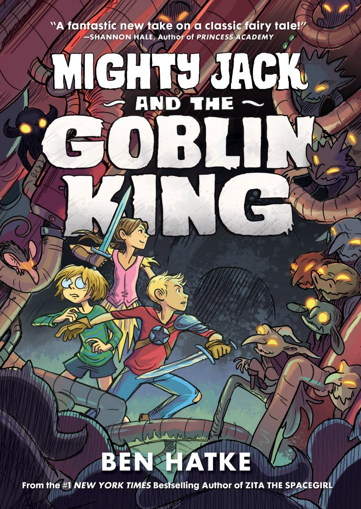 Mighty Jack and the Goblin King by Ben Hatke is phenomenal. ad