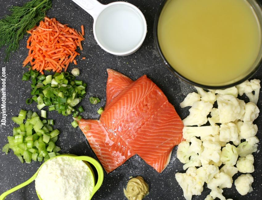Easy Salmon Chowder Recipe (Cream & Milk Free) and it's delicious