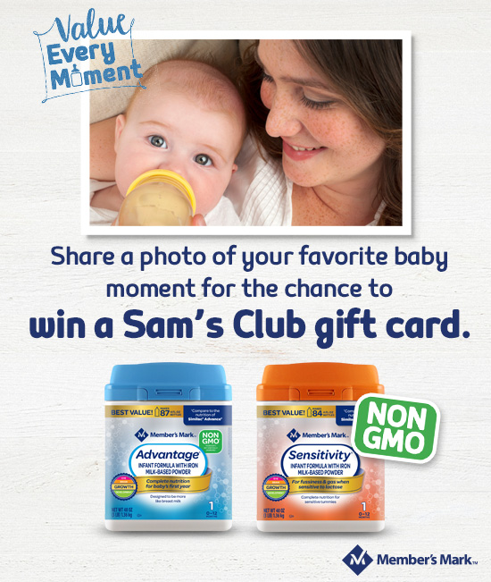 Save $450 a Year on Quality Baby Formula AND Enter to WIN $1500 in Sam's Gift Cards for your child