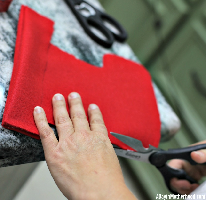 Easy DIY Dog Stocking (No Sew) and clean the edges