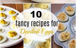10 Fancy Deviled Eggs Recipes.