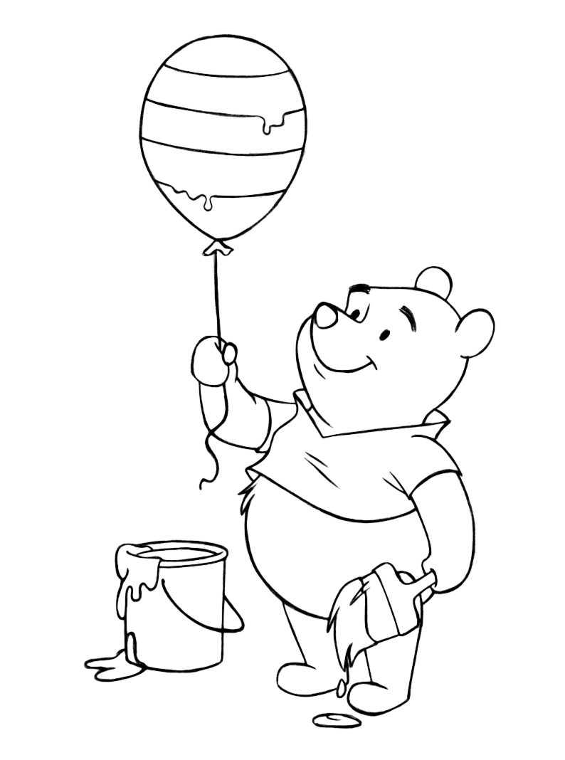 Winnie The Pooh Coloring Pages and Easter Egg Decorating ...