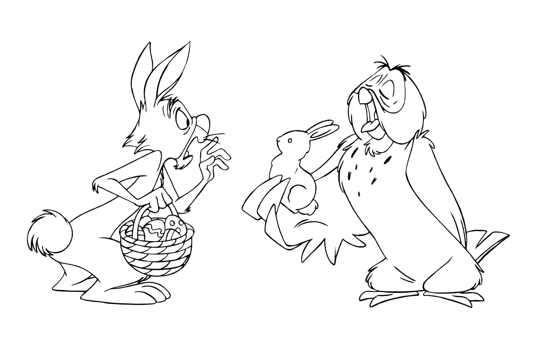 winnie the pooh coloring pages and easter egg decorating ideas - Winnie The Pooh Coloring Pages 2