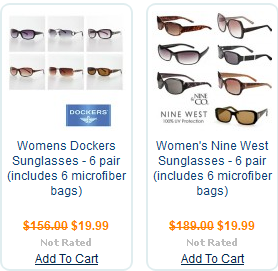 5171602674a13 Ladies Sunglasses 6 Packs  19.19 ( 14.39 for Newbies)