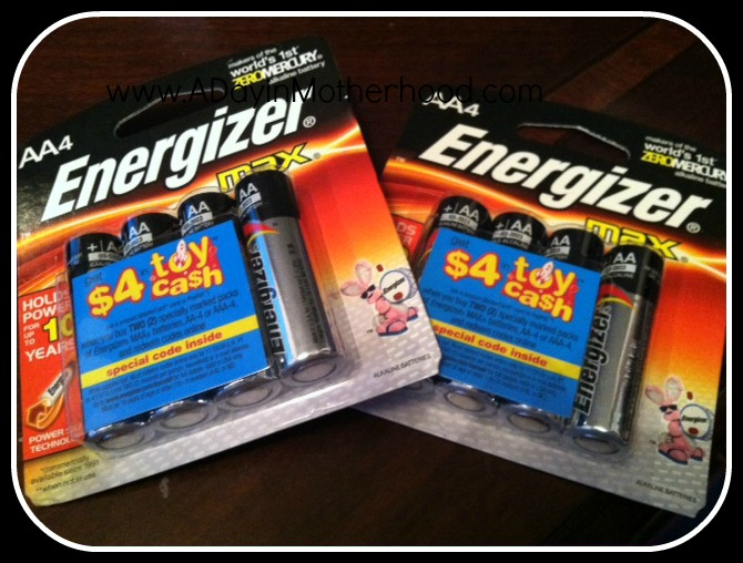 Get Toy Cash on Specially Marked Packages of Energizer Batteries + Cash For Batteries on