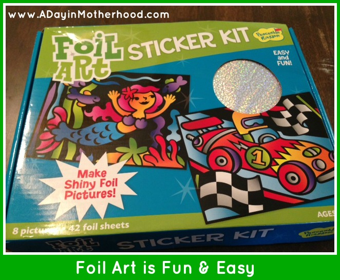 Gifts for Kids: Foil Art Sticker Crafts from Peaceable Kingdom