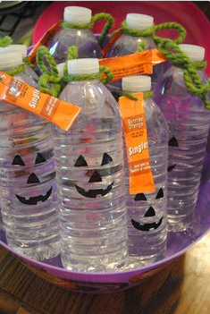 Water Bottle Halloween craft