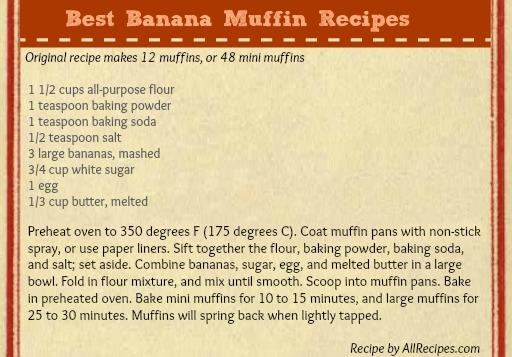 Best Banana Muffins Recipes