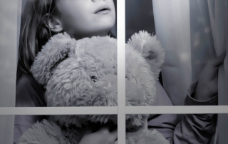 How to spot a child molester, picture of little girl looking out a window