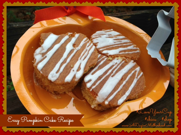 Easy Pumpkin Cake Recipe #LoveYourCup #cbias #shop