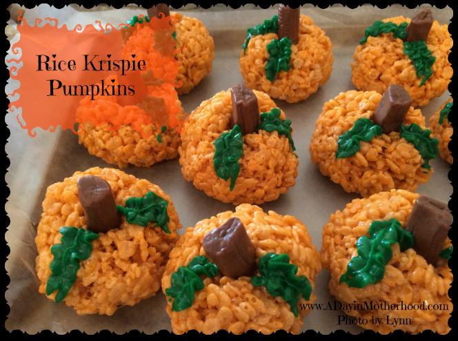 Rice Krispie Pumpkins