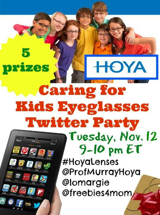 Hoya Lenses Caring for Kid's Eyeglasses Twitter Party #HoyaLenses