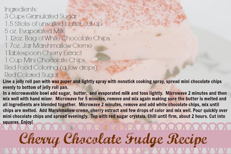 cherry chocolate fudge