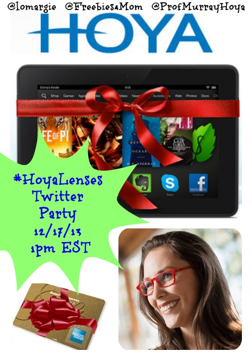 #HoyaLenses Twitter Party 12/17 at 1pm EST