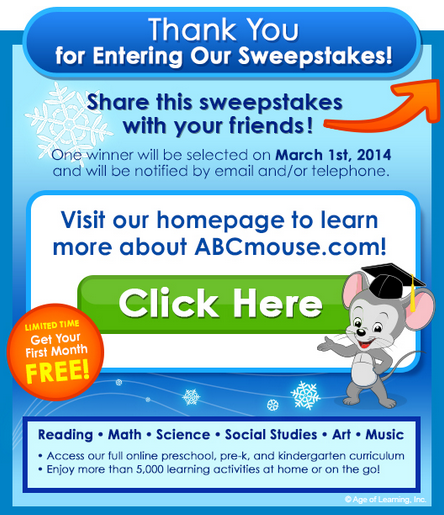 Enter to WIN an iPad Air from ABCMouse com