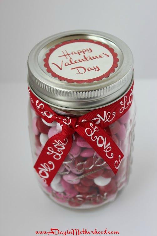Valentine's M&Ms in a Jar