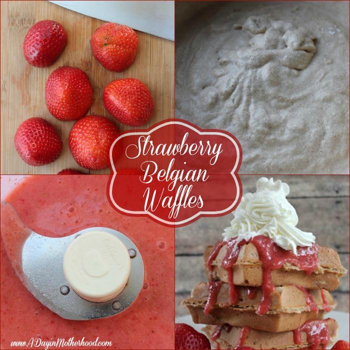 strawberry belgian waffles