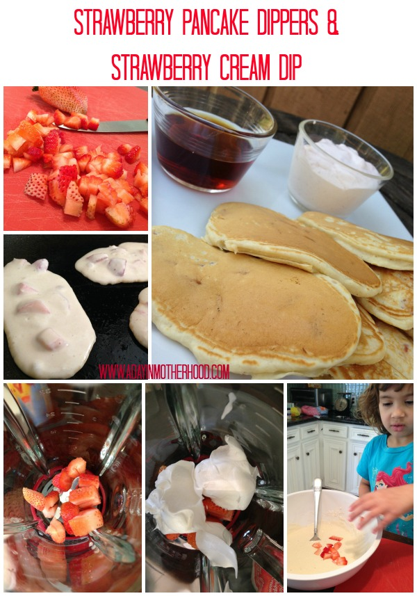 Strawberry Pancake Dippers and Strawberry Cream Dip