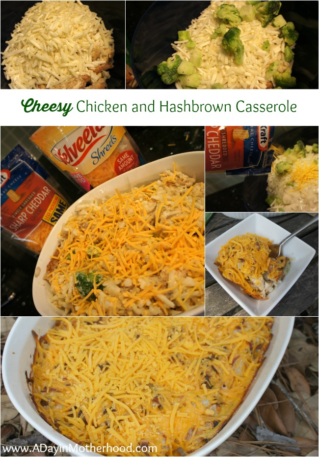 Cheesy Chicken and Hashbrown Casserole #RollIntoSavings #shop