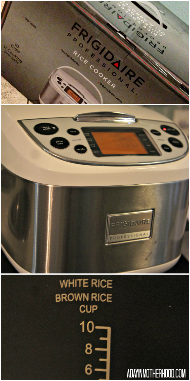 new frigidaire professional rice cooker makes breakfast. Black Bedroom Furniture Sets. Home Design Ideas