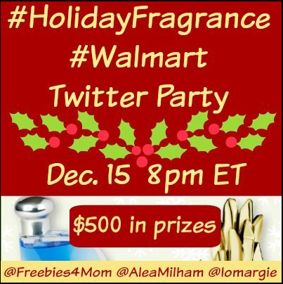 WIN $500 in Prizes at #HolidayFragrance #Walmart Twitter Party Dec. 15 8pm E