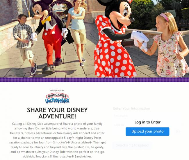 Smucker's® Uncrustables® is calling all Disney Side Adventurers: WIN a Trip to Disney