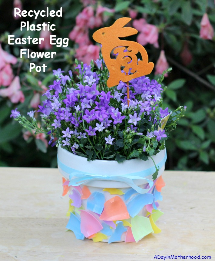 Recycled Plastic Easter Egg Flower Pot + ENTER the $1000 GuiltFree Giveaway #ad