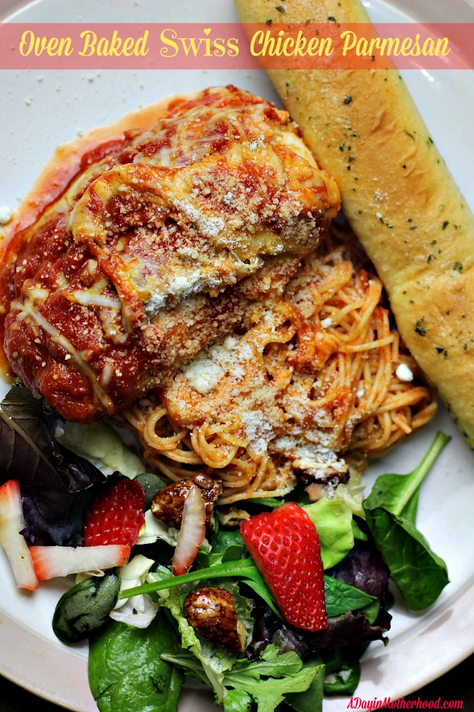 Oven Baked Swiss Chicken Parmesan #Sausesome #ad