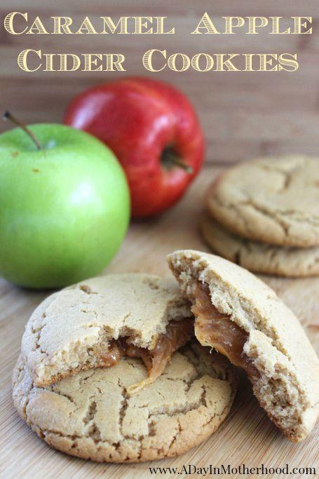 Caramel Apple Cider Cookies