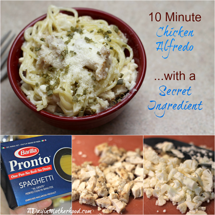 (ad) Ten Minute Chicken Alfredo with a Secret Ingredient #EverydayEffortless