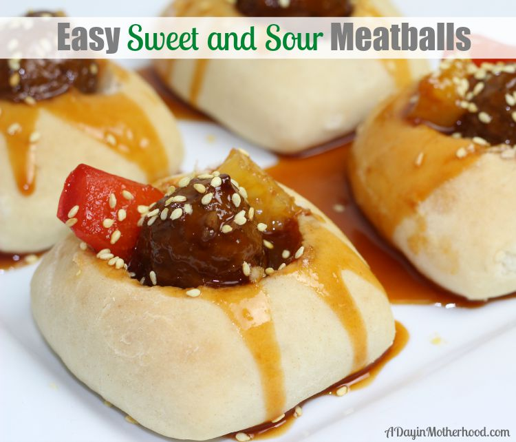 Easy Sweet and Sour Meatballs Recipe #BackYourSnack ad