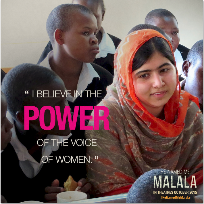 He Named Me Malala is in Theaters 10/9/2015 #HeCalledMeMalala