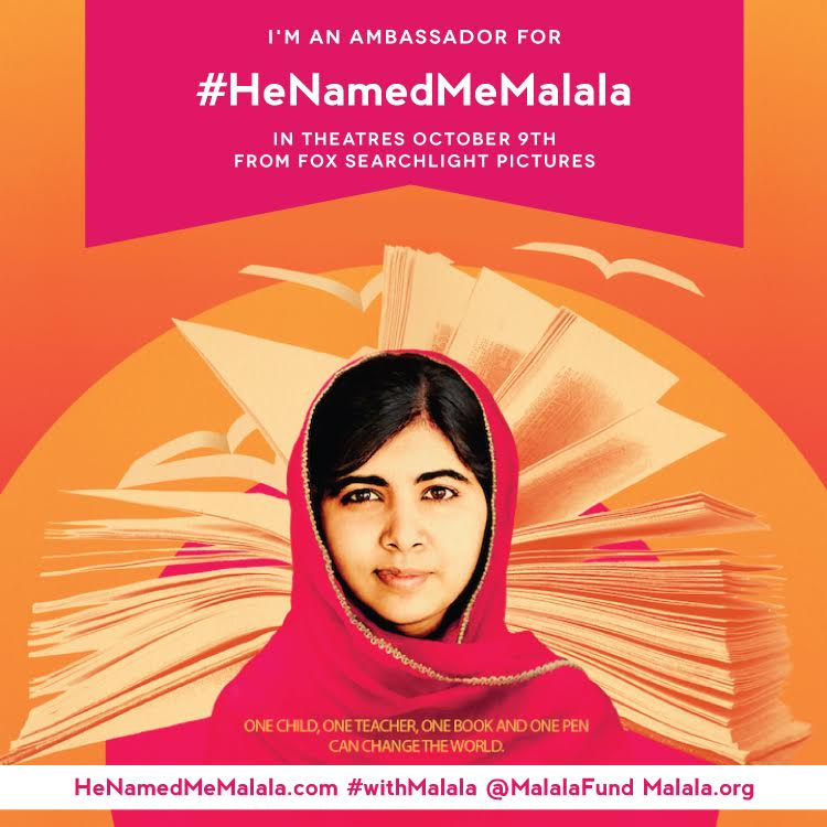 He Named Me Malala in Theaters TODAY #HeNemedMeMalala #withMalala